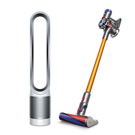 Dyson V8 Fluffy and Pure Cool™ Purifying Tower Fan TP00 White/ Silver