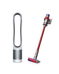 Dyson Cyclone V10 Fluffy and Pure Cool™ Purifying Tower Fan TP00 White/ Silver