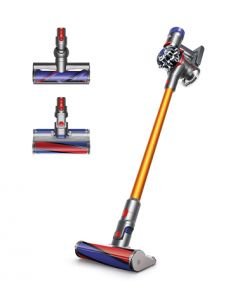 Dyson V8 Carbon Fibre and AM07 Iron/Blue