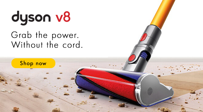 Dyson v8, grab the power without the cord, shop now
